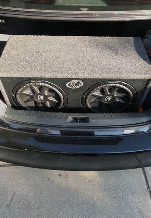 Kicker CompVR 12 Subwoofer w/ 1,000 watt Kenwood amp included for Sale in Clarksburg, MD