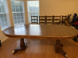 Wooden table with chairs for Sale in Battle Ground, WA