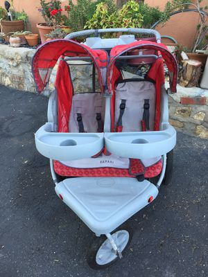 Safari double stroller gray and red nice colors Description Introducing the all duet, the compact side-by-side Cleverly designed and engineered at for Sale in Spring Valley, CA