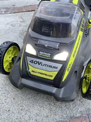 Ryobi self propel 40 v Rechargeable mower for Sale in Cerritos, CA