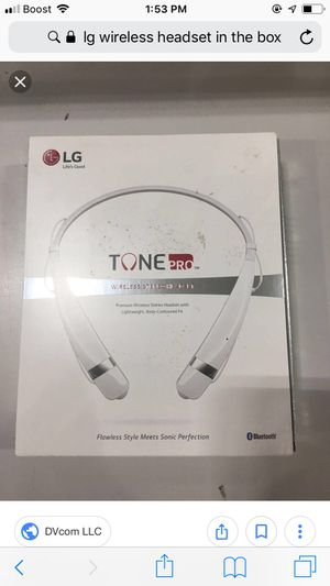 LG Tone Pro Bluetooth wireless stereo headset for Sale in Portland, OR