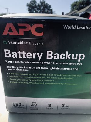 APC BATTERY BACK UP KEEPS ELECTRONICS RUNNING WHEN THE POWER GOES OUT for Sale in Los Angeles, CA