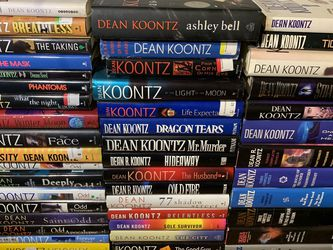 47 Dean Koontz Hardcover Books Cheap With Signed Copy Of Ashley Bell 40$ For All!! for Sale in Corona,  CA