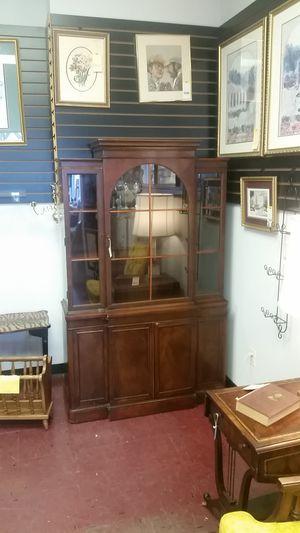 Vintage Mahogany China Cabinet Breakfront for Sale in Midlothian, VA