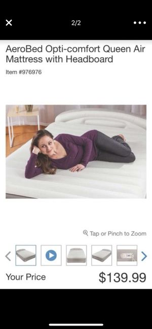 NWT AiroBed Opti-Comfort Queen Air Mattress BOXED NEW Retail $140 for Sale in Los Angeles, CA