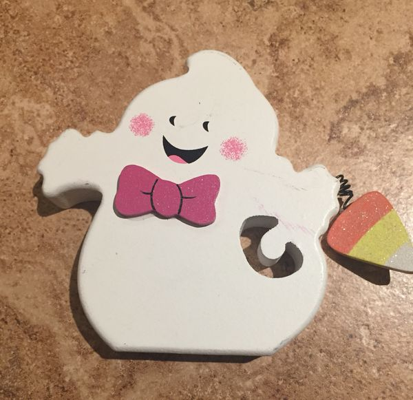 Wood Halloween ghost decoration party decorations decor