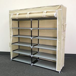"""Brand New $25 each 6-Tiers 36 Shoe Rack Closet Fabric Cover Portable Storage Organizer Cabinet 43x12x43"""" for Sale in Santa Fe Springs, CA"""