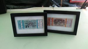 2 Led Zeppelin framed/unused concert tickets for Sale in Fresno, CA