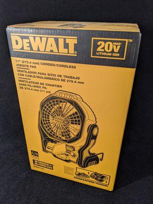 BNIB DeWalt 20V MAX DCE511C1 Jobsite Fan FULL KIT for Sale in Covington, WA