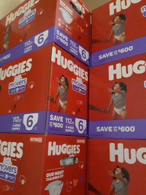 HUGGIES LITTLE MOVERS SIZE 6 $35 CADA UNO PRECIO FIRME for Sale in Santa Ana, CA