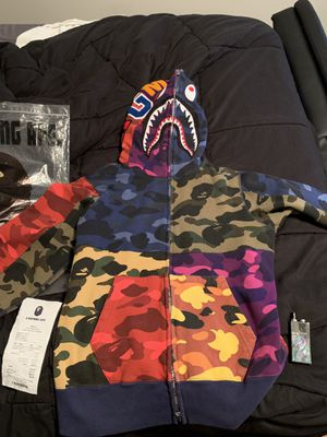 Multi color BAPE hoodie no boof for Sale in Cary, NC