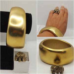 Vintage set, Bracelet & Stretch Elephant Retro Ring. for Sale in Covington, KY