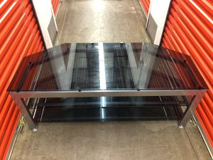 Nice Glass TV stand $120 for Sale in Gaithersburg, MD