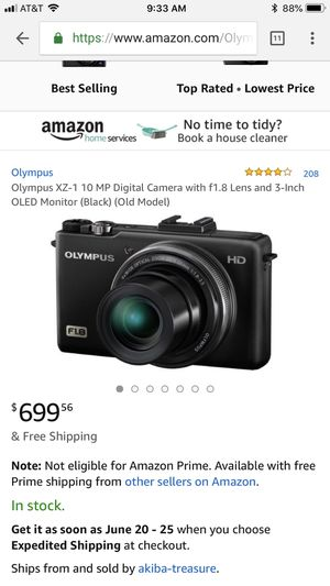 Olympus HD Digital Camera XZ-1 (Black) for Sale in Houston, TX