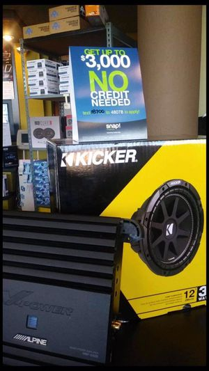 "Kicker subwoofer 12"" brand new with open box alpine amp work great finance available for Sale in Fremont, CA"