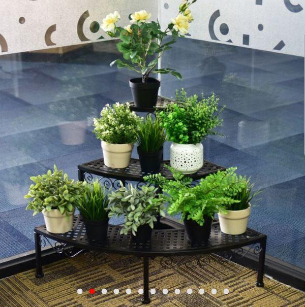 PLANT DISPLAY, HOLDER, CORNER POSITION, 3 LEVELS OF BEAUTY