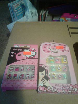 Hello Kitty press on nails, watches, earrings, shower poof, necklaces & bracelet. for Sale in Levittown, PA