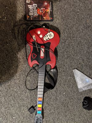 PS2 guitar hero guitar and game for Sale in Oxford, MA