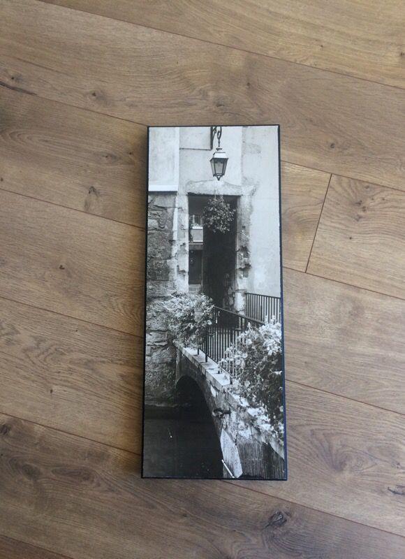 Black and white hanging art