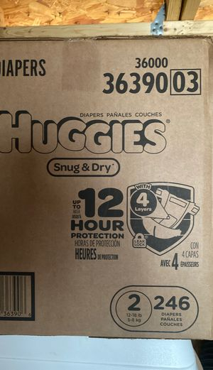 Huggies size 2 for Sale in Silver Spring, MD