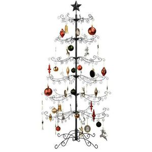 New 6ft Wrought Iron Christmas Tree Ornament Display w/ Easy Assembly, Stand - Black for Sale in Columbus, OH