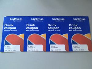 Southwest Drink Tickets (4) for Sale in Poway, CA