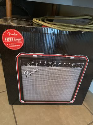 Fender Champion 40 Guitar Amp and 2 Tweed Instrument Cords for Sale in Wichita Falls, TX