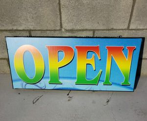 "Lighted Colorful ""OPEN"" Sign for Sale in La Puente, CA"