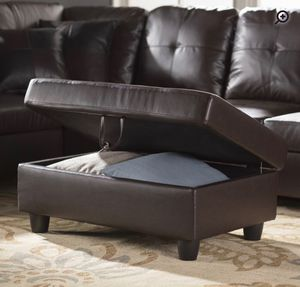 Espresso. Sofa Sectional with ottoman. New for Sale in Milpitas, CA