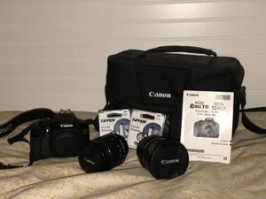 Canon EOS Rebel T6I Digital SLR Camera Bundle with Two Lenses for Sale in South Salt Lake, UT