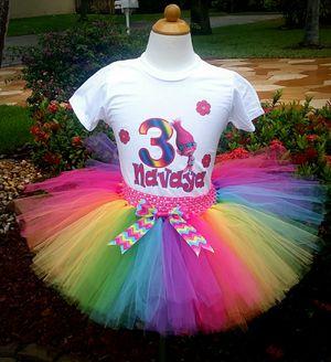 Trolls Rainbow Tutu Outfit for Sale in Coconut Creek, FL