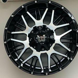 "Brand New 20"" WPXT 20X10 6X139.7 / 6x135 Black Machine Wheels for Sale in Miami, FL"
