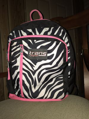 Zebra Backpack/ book bag for Sale in Glendale Heights, IL