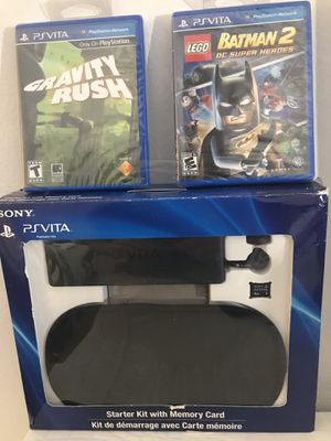 FOR SONY PSVITA CASE 2 GAMES HEADPHONE AND MEMORY CARD for Sale in Miami, FL