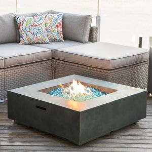 Concrete Propane Fire Pit Table Outdoor Back Yard Fireplace Large Garden Deck Patio Heater. for Sale in Toledo, OH