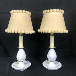 Vintage Hobnail Glass Lamp Set for Sale in Lovettsville, VA