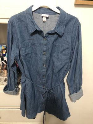 Denim maternity shirt for Sale in Downey, CA
