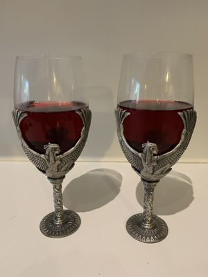 Egyptian goddess Isis wine goblets 2 for Sale in Hialeah, FL