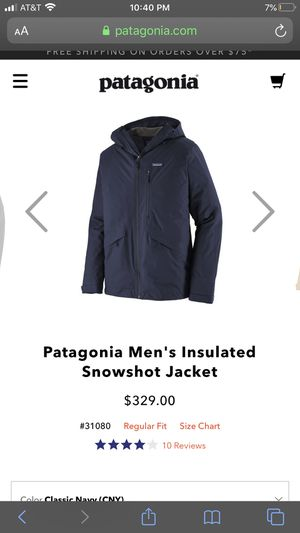 Patagonia men's Snowshot Insulated Jacket. Color: (NAVY) for Sale in Las Vegas, NV