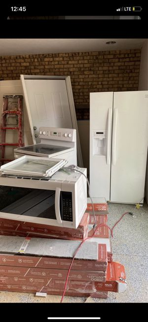 Refrigerator microwave stove and sink for Sale in Denver, CO