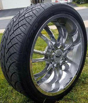 """Rims 22"""" tire nitto 420 for Sale in Reston, VA"""
