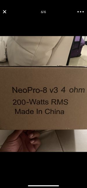Sundown audio neo pro 8s for Sale in Miami, FL
