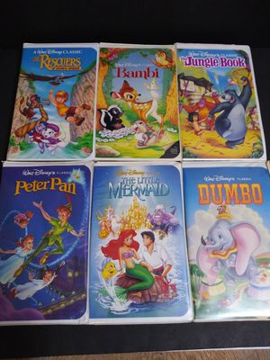 Disney Black Diamond VHS Classics for Sale in Garland, TX