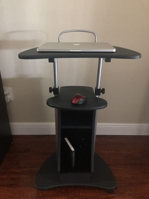 Black sit to stand mobile laptop computer table ! for Sale in Tamarac, FL