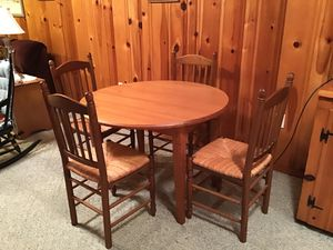 Kitchen or dining room table and chairs. Summer sale for Sale in Conklin, NY