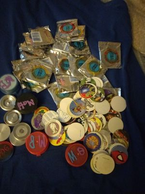 Lot of many different pogs with slamers for Sale in Baldwin Park, CA