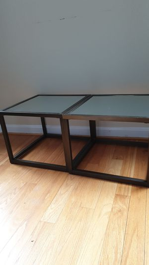 2 side tables with mirror tops for Sale in Washington, DC