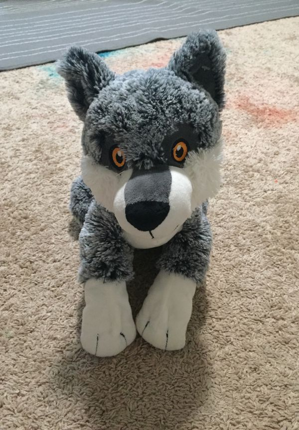 A toy wolf