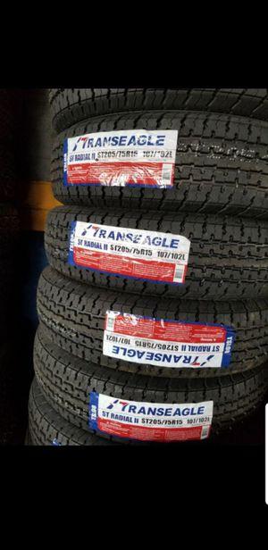 Trailer tires st205 75 15 for Sale in Phoenix, AZ
