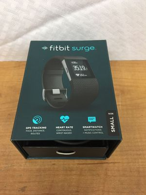 Fitbit Surge Fitness Super Watch with Heart Rate Monitor - size Small for Sale in Murray, UT